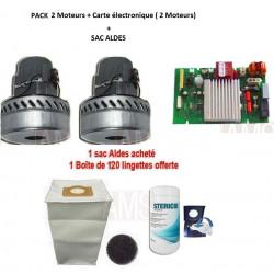 2 Moteurs + Carte Aldes C. Power( 2 moteurs) + sac