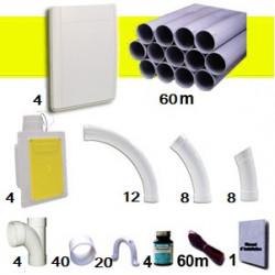 Kit 4 prises Blanches RETRAFLEX 9m et 12m
