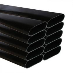 Tuyau PVC OVALE 15M  7 CMX3,4 CM x 1,50M X10