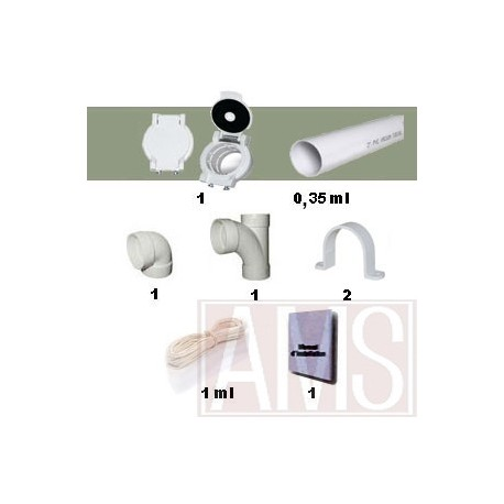 kit 1 prise garage spécial aspiration centralisée