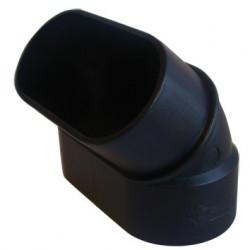 SlimLine Vac Coude 45° M-F OVALE PVC