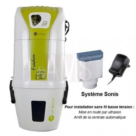 Aspirateur centralisé SACH Freedom 1.6kW ultrason sonis