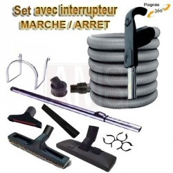 Set 8 accessoires + 1 flexible 12 m premium Plastiflex ON / OFF