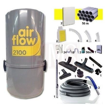 Airflow 2100w+ 2 prise Rétraflex Flexibles 15m