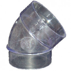 Coude 45° MF transparent