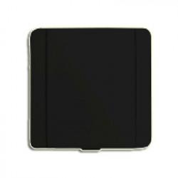 Prise métal carrée noire