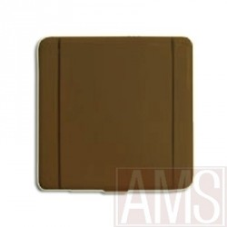 Prise métal carrée marron