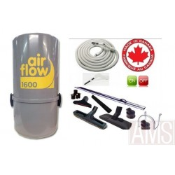 AirFlow 1600w  ou 300 M2 max set luxe on off / 8m Aspirateur centralisé