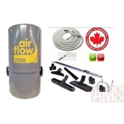 AirFlow 2100w  ou 400 M2 max set  luxe on off / 8m Aspirateur centralisé