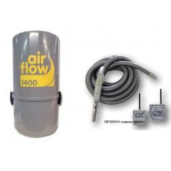 AirFlow 1400w + Sans fil Aspirateur centralisé