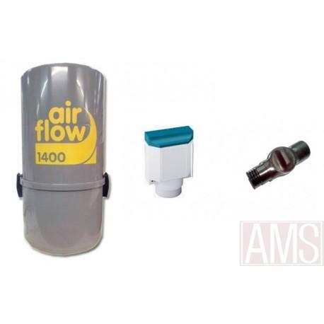 AirFlow 1400w + Sans fil sonis Aspirateur centralisé