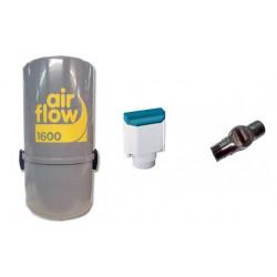 AirFlow 1600w  + Sans fil sonis Aspirateur centralisé