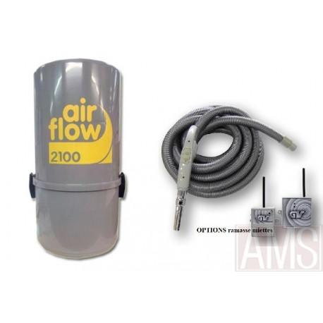 AirFlow 2100w Sans fil Aspirateur centralisé