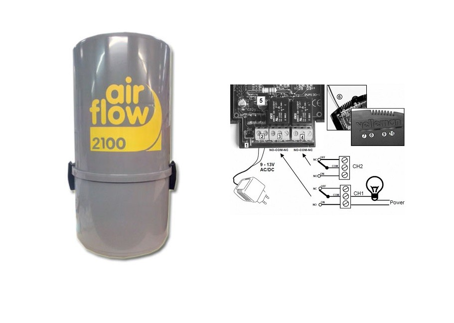 aspirateur central airflow 2100 avec sonis jusqu 400. Black Bedroom Furniture Sets. Home Design Ideas