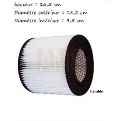Filtre 16.5 cm polyester
