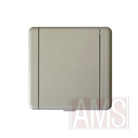 Prise métal  carrée gris primaire à peindre