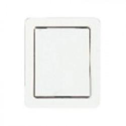 Prise acier plate blanche