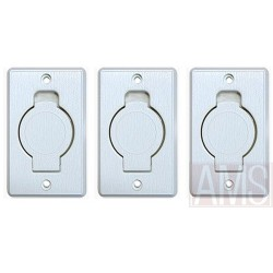 Prise PVC x 3 rectangle clapet rond