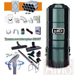 ASPIRATEUR HD800C + SET ON-OFF 9M +BROSSES + KIT 3 PRISES