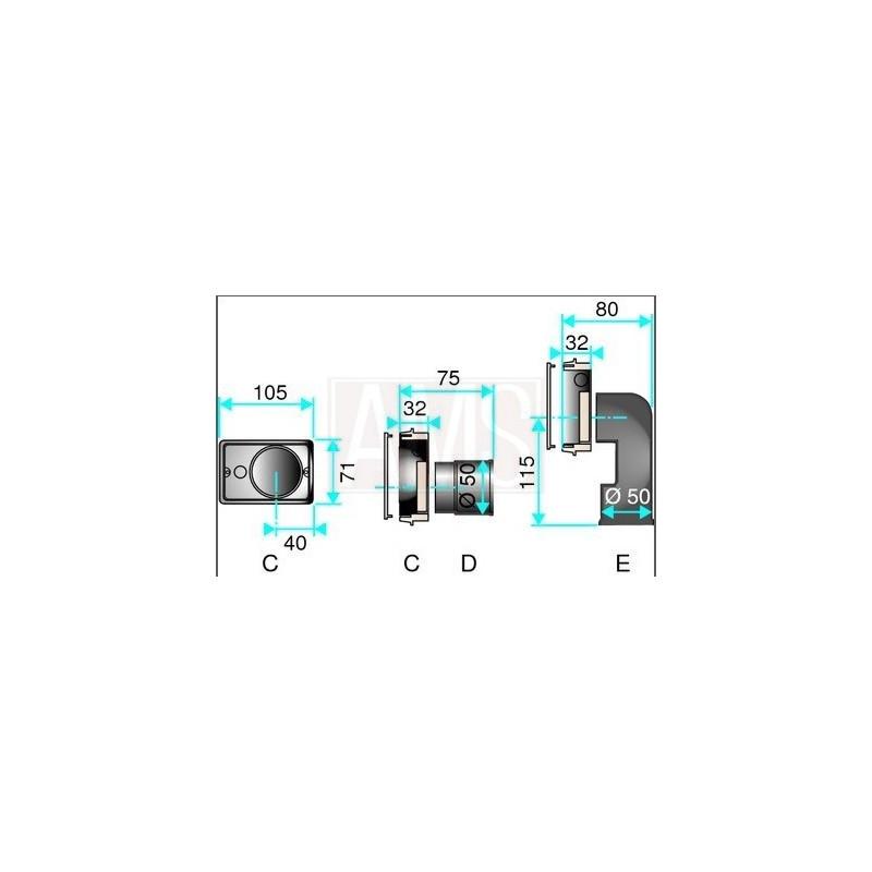 Plaque montage aldes boutique de l 39 aspiration centralis e for Prise aspiration centralisee aldes