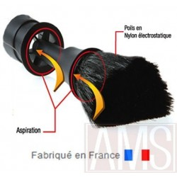 Brosse plumeau pour aspirateur