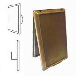 Prise Métal Bronze rectangle porte pleine