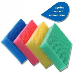 4 éponges color clean HACCP