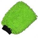 Gant microfibre vert 2 en 1