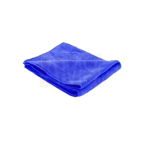 Chiffon microfibre bleue