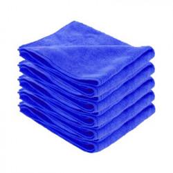 Chiffons microfibre SOFT bleue par 5