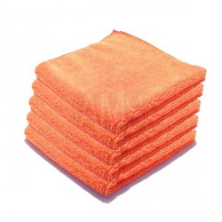 Chiffons microfibre Luxe orange X5