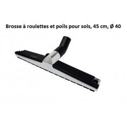 Brosse à roulettes et poils pour sols L 45 cm Ø 40