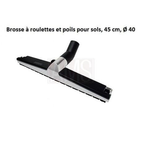 Brosse à roulettes et poils pour sols, 45 cm, Ø 40 - AP458