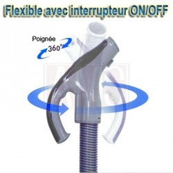 Flexible on-off aspiration centralisée