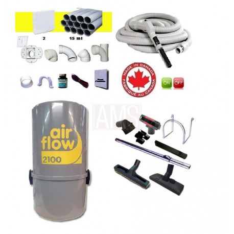 AirFlow 2100w Set flexible on off / 9.10m + accessoires + Kit 2 prises