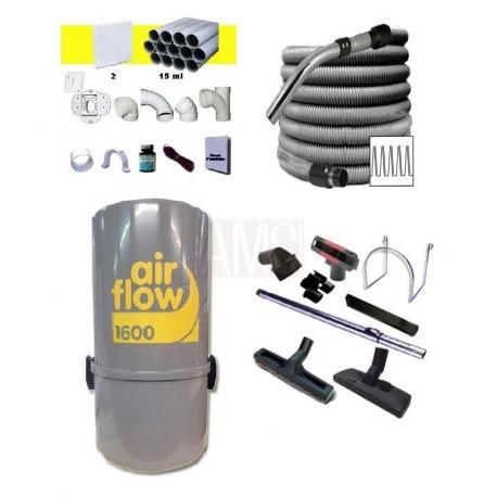AirFlow+ Set flexible 9.10m + accessoires + Kit 2 prises
