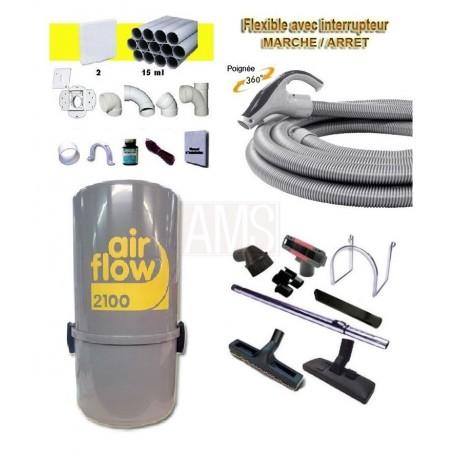 AirFlow 2100w Set flexible / 9.10m + accessoires + Kit 2 prises