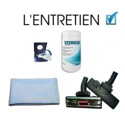 Pack lingette + brosse + microfibre