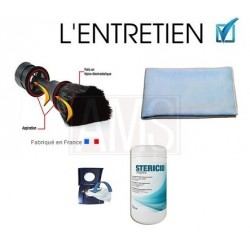 Pack lingette + brosse plumeau + microfibre