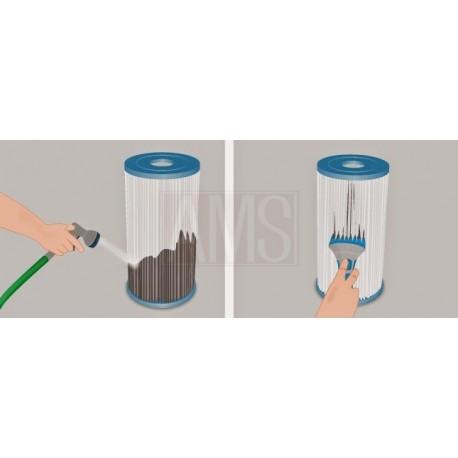 brosse de nettoyage filtre cartouche aspirateur piscine spa filtre polyester. Black Bedroom Furniture Sets. Home Design Ideas