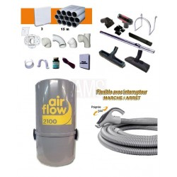 AirFlow 2100w Set flexible on off / + accessoires + Kit 2 prises