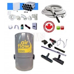 AirFlow 2100w Set flexible on off / 9.10m + accessoires + Kit 5 prises
