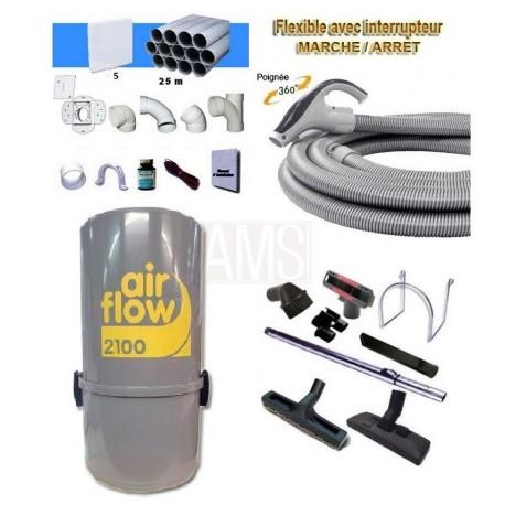 AirFlow 2100w Set flexible on off ergo + accessoires + Kit 2 prises