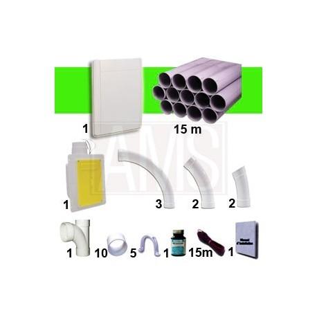 Kit 1 prise RETRAFLEX Blanche Nouvelle génération