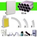 Kit 1 prise Blanche RETRAFLEX 9m et 12m