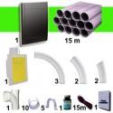 Kit 1 prise Noire RETRAFLEX 9m et 12m