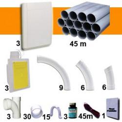 Kit 3 prises Blanches RETRAFLEX 9m et 12m