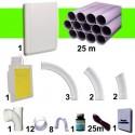 Kit 1 prise Blanche RETRAFLEX 15m et 18m