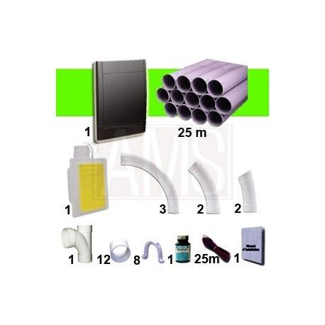 Kit 1 prise Noire RETRAFLEX Nouvelle génération