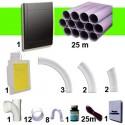 Kit 1 prise Noire RETRAFLEX 15m et 18m